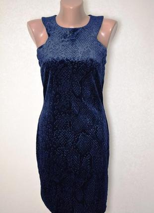 Бархатное вечернее платье с эффектом змеиной кожи topshop