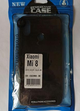 Чохол Glass-Case Xiaomi Mi 8 black