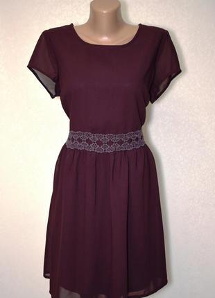Шикарное платье new look благородного фиолетового цвета
