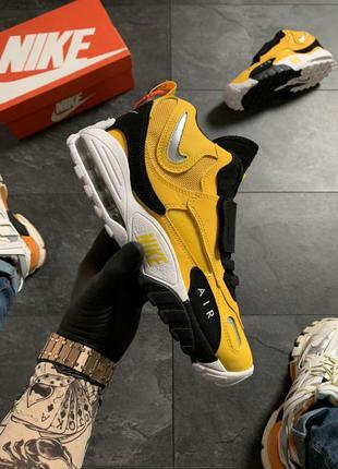 Nike air max speed turf yellow black, желтые мужские кроссовки...