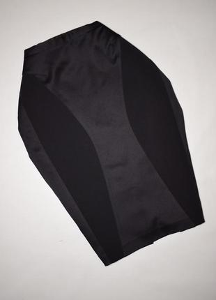 Классическая черная юбка карандаш по фигуре next атласные вста...
