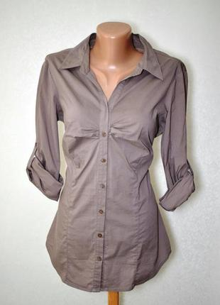 Рубашка цвета капучино amisu, m-l
