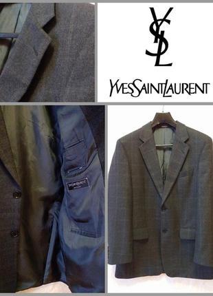 Брендрвый пиджак мужской yves saint laurent, 48