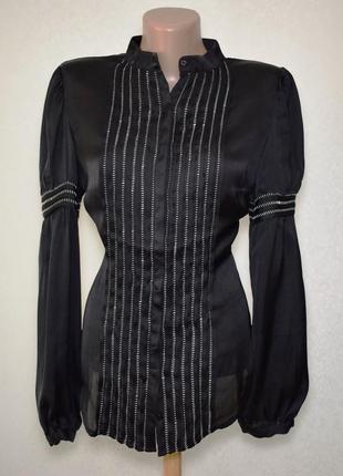 Атласная блуза nysense, m
