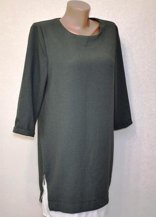 Оригинальное платье хаки atmosphere свободного кроя oversize