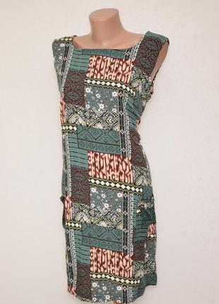 Летнее платье с натуральной ткани izabel london, вискоза