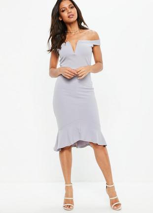 Обалденное миди платье на плечи