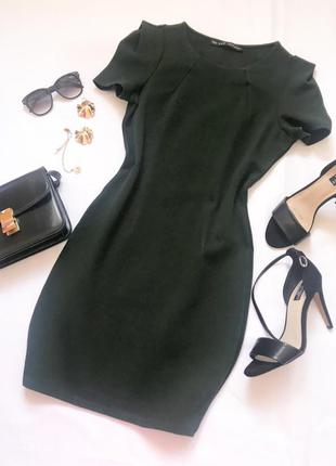 Зеленое платье zara р.м