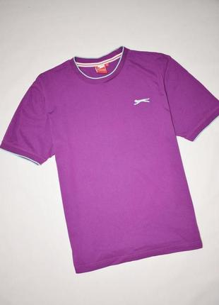 Фирменная яркая мужская хлопковая футболка slazenger