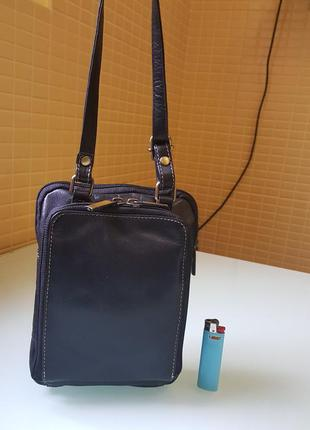 Отличная мужская практичная кожаная сумочка