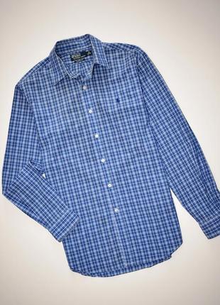 Мужская рубашка в клетку polo ralph lauren