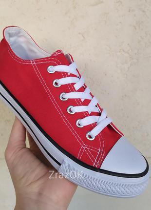 Красные кеды кроссовки мокасины слипоны с резиновым носком