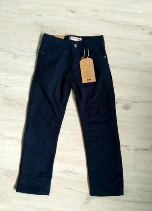 Новые синие брюки на флисе для мальчика в школу. 116-146. венгрия