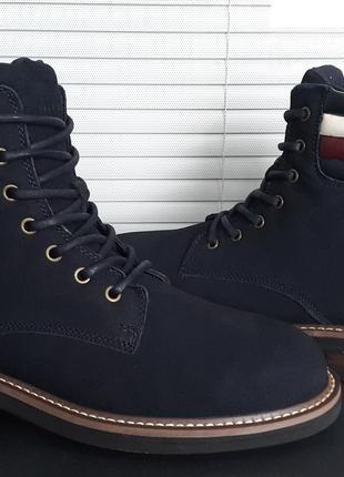 Tommy Hilfiger Новый Оригинал 45 29,5 см Кожаные Ботинки Мужские