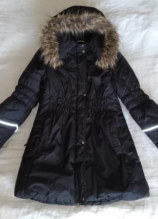 Зимняя удлиненная куртка парка пальто Lenne р. 158, идеальное