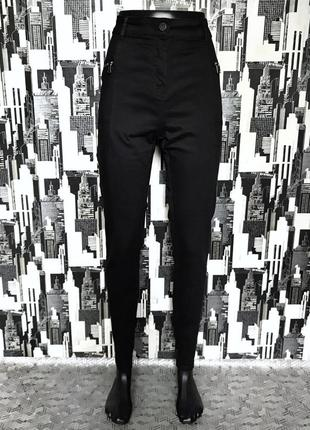 667 черные джинсы скинни высокой посадки next