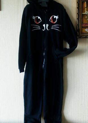Слип пижама ромпер кигуруми комбинезон кошка кот