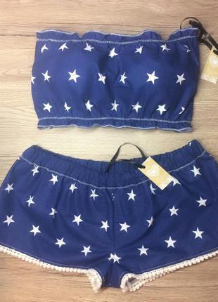 Пижама комплект шорты топ