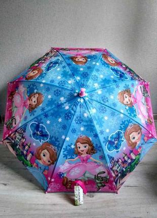 Новый зонтик для девочек от 5 до 9 лет принцесса софия