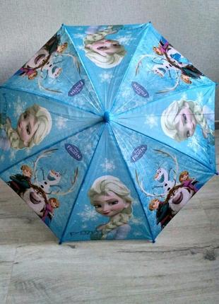 Детский зонтик трость для маленьких frozen эльза от 2 до 6 лет