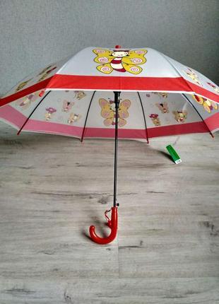 Яркие детские зонтики с красочными рисунками на 3-7 лет бабочки