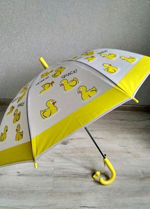 Яркие детские зонтики с красочными рисунками на 3-7 лет уточки