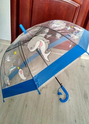 Детские прозрачные купольные зонтики грибочком от 2 до 6 лет а...