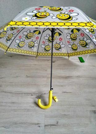 Яркие детские зонтики с красочными рисунками на 3-7 лет