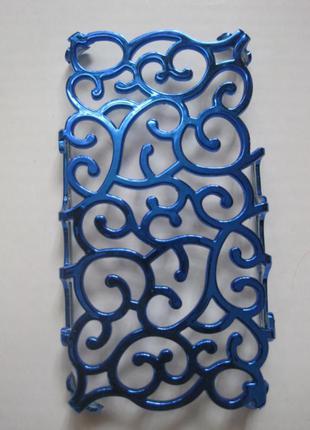 1+1=3 чехол баннер для iphone 4/4s  синий электрик новый