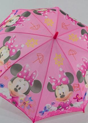 Новые зонтики для девочек с минни маус от 4 до 8 лет