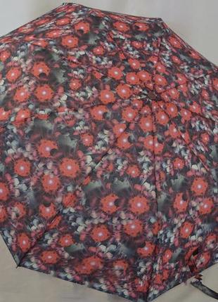 Шикарный женский зонт-полуавтомат цветы