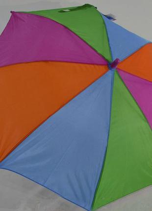 Яркий детский зонтик- трость радуга от 4 до 7 лет . венгрия.