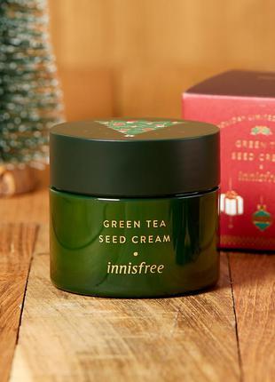 Крем с экстрактом семян зеленого чая innisfree green tea seed ...
