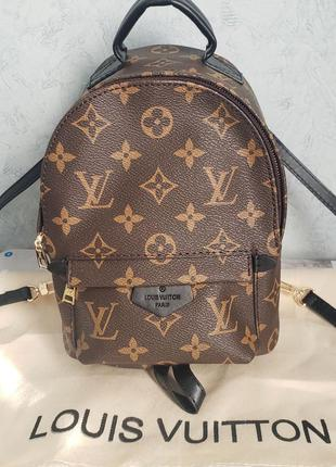 Женский мини рюкзак жіночий ранець коричневый Louis Vuitton mini