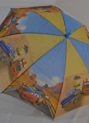Зонтик детский для мальчика 5-9 лет тачки макквин