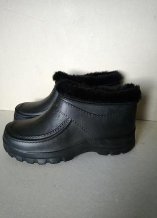 Р 45 / 29,5 см ботинки галоши калоши большие удобные черные на...
