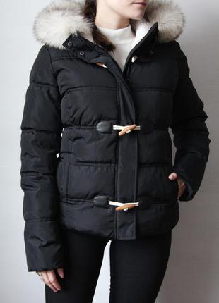 Короткая куртка с натуральным мехом песца