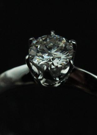 Кольцо помолвочное с бриллиантом 0.46 карат H/VVS2
