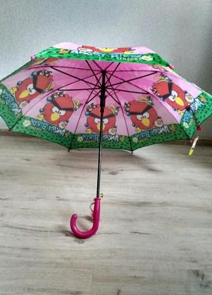 Детский зонтик angry birds злые птички 5-9 лет