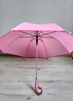Детский подростковый зонт для девочек от 7 до 12 лет нежно-роз...