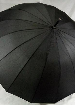 Черный президентский зонт-трость с большим куполом на 16 спиц ...