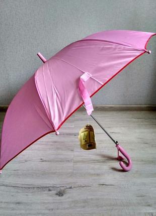 Детский подростковый зонт для девочек от 7 до 12 лет розово-си...