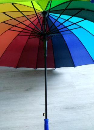 Уцененный подростковый зонт-трость радуга на 8-13 лет. венгрия