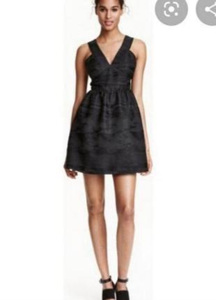 Черное платье с пышной юбкой от h&m