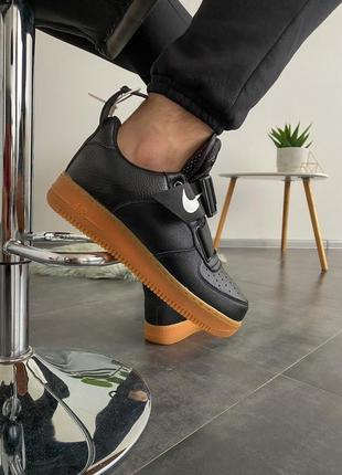 Nike air force 1 utility black gum шикарные мужские кроссовки ...