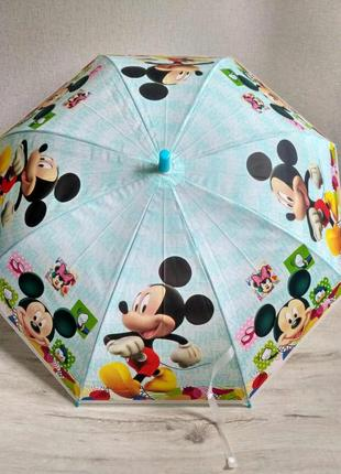 Детские зонтики от 4 до 8 лет. микки маус