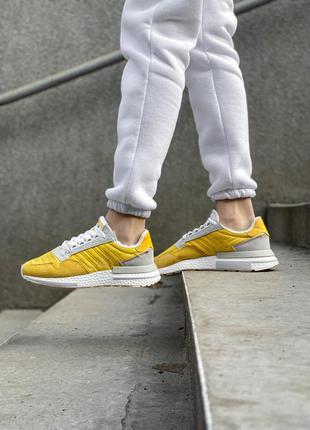 Adidas zx 500 шикарные кроссовки адидас желтый цвет (весна-лет...
