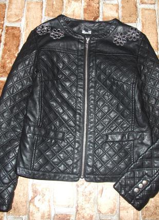 куртка девочке кожаная 12 - 13 лет