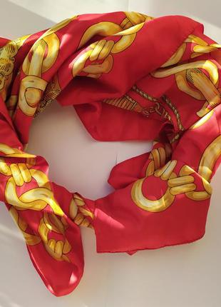 Nicole de beauvoir шарф нашейный платок яркий стильный алый кр...