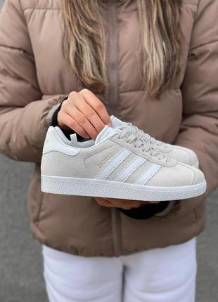 Adidas gazelle женские кроссовки адидас газель серый цвет (вес...